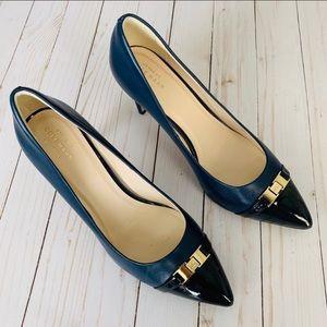 Cole Haan Grand OS navy blue heels